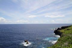 Banzaiklippa i Saipan Arkivfoton