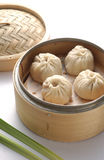 Bao. Chinese Dim Sum Mini Bao In Basket Stock Photography