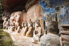 Bao Ding Mountain Circle of Life. The Dazu Rock Carvings (Chinese: 大足石刻; pinyin: Dàzú Shíkè) are a series of Chinese religious sculptures and royalty free stock photos