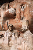 Bao Ding Mountain Circle of Life. The Dazu Rock Carvings (Chinese: 大足石刻; pinyin: Dàzú Shíkè) are a series of Chinese religious sculptures and royalty free stock image