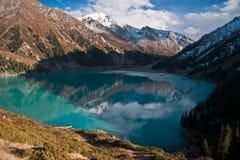 BAO in october 2015. Big Almaty lake in october Stock Photos