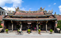 Bao'an Temple, Taipei. Bao'an Temple is one of the many temples in Taipei. This one is behind the more popular Confucius Temple in Datong district royalty free stock images