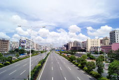 Baoan avenue Royalty Free Stock Images