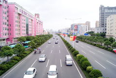 Baoan avenue Royalty Free Stock Photo