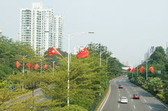 Baoan Avenue Royalty Free Stock Photo