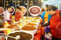 Baoan Shopping Festival food area Royalty Free Stock Photography