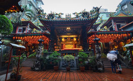 Baoan tempel, Taipei, Taiwan Arkivbild