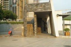 Baoan waterfront plaza Stock Photo