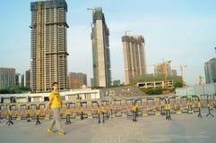 Baoan waterfront plaza Royalty Free Stock Photography