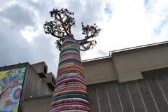 Baobab-Baum-Skulptur-Südufer London Lizenzfreies Stockbild