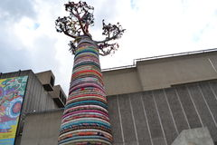 Baobab Tree Sculpture South Bank London Festival  Royalty Free Stock Image