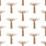 Baobab tree seamless pattern Royalty Free Stock Photography