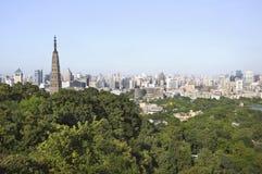 Baochu Pagoden- und Hangzhou-Skyline, China Lizenzfreie Stockbilder