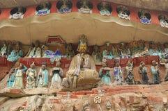 Baodingshan岩石雕刻 图库摄影