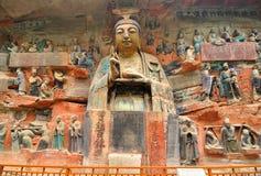 Baodingshan岩石雕刻 库存照片