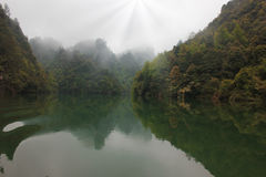 Baofeng lake, the nature reserve Zhangjiajie, China Royalty Free Stock Photos