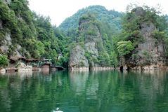 Baofeng lake in Zhangjiajie Stock Photo