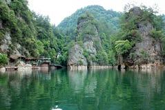 Baofeng lake in Zhangjiajie Stock Photo