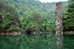 Baofeng lake in Zhangjiajie Royalty Free Stock Images