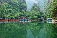 Baofeng lake in Zhangjiajie stock image