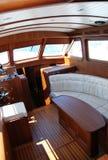 Baot interior01 da vela imagem de stock royalty free