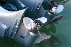 Baot propeller installed on the engine Royalty Free Stock Photos