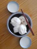 Baozi. Chinese characteristics of the steamed stuffed bun Stock Image