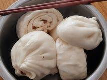 Baozi. Chinese characteristics of the steamed stuffed bun Stock Photo