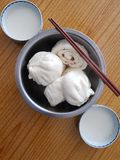 Baozi and soybean milk. Baozi,Chinese characteristics of the steamed stuffed bun Stock Image