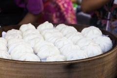 Baozi steamed food. Thailand Streed food. Baozi steamed food in thailand Stock Photography