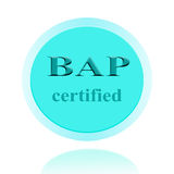 BAP certified icon or symbol image concept design with business Stock Photos