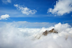 BAP in clouds Royalty Free Stock Photo