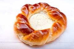Bap mit Käse stockbild