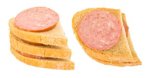 Bap o panino della salsiccia Fotografia Stock