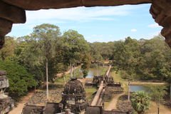 Baphuon寺庙 柬埔寨 暹粒省 暹粒市 免版税库存图片