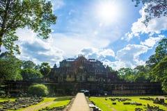 Baphuon świątynia Angkor Wat angkor banteay Cambodia jeziorni lotuses przeprowadzać żniwa siem srey świątynię Kambodża Zdjęcie Royalty Free