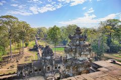Baphuon Temple Phimeanakas Gate, Angkor, Cambodia Royalty Free Stock Images