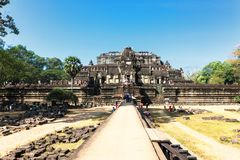 The Baphuon temple at Angkor Wat Thom, Cambodia Royalty Free Stock Images