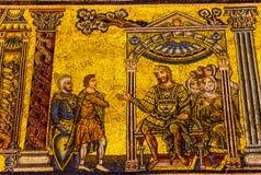 Bapistry för KristusMedici mosaiskt kupol helgon John Florence Italy arkivfoton