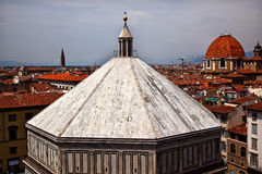 Bapistry From Giotto's Bell Tower Florence Italy Royalty Free Stock Images