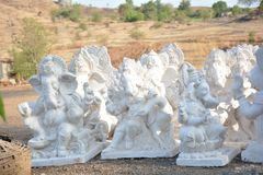 Bappa dans le blanc ! Photo stock