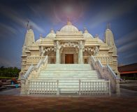 BAPS Mandir  in Chicago. BAPS Shri Swaminarayan Mandir Chicago Royalty Free Stock Photo