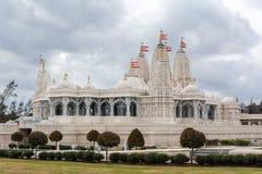 BAPS Shri Swaminarayan Mandir del templo hindú en Houston, TX fotografía de archivo