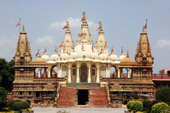 BAPSSwaminarayan tempel @ Gondal Arkivfoton