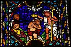 Baptême de Jésus par St John Photos stock