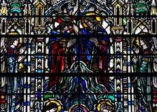 Baptême de Jesus Christ en verre souillé Images stock