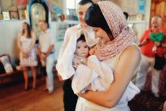 Baptême infantile Photo libre de droits