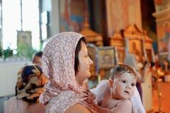 Baptême infantile Photos stock