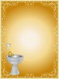Baptism. Ticket invitation for the celebration of a baptism Stock Image