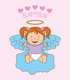 Baptism angel design Royalty Free Stock Photography